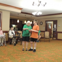 Good Shepherd Lutheran Church-Shoreview Senior Living-teaming up for charades
