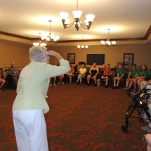 Good Shepherd Lutheran Church-Shoreview Senior Living-women playing charades