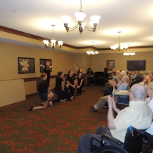 Children's Performing Arts-Shoreview Senior LIving-senior living enjoying the Children's Performing Arts