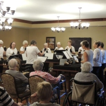 Coral Bells-Shoreview Senior Living-Coral Bells performing for the seniors