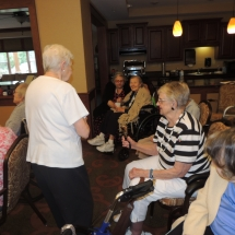Coral Bells-Shoreview Senior Living-going into the audience