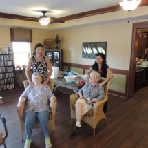 Coral Bells-Shoreview Senior Living-seniors with staff