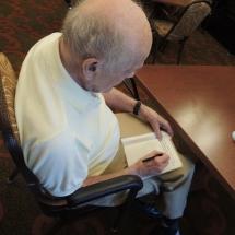 July Silverwood Nature Center Visit-Shoreview Senior Living-man drawing