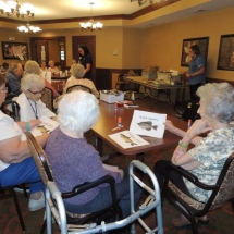 July Silverwood Nature Center Visit-Shoreview Senior Living-learning about fish