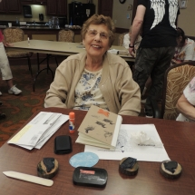 July Silverwood Nature Center Visit-Shoreview Senior Living-women making her journal