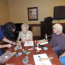 July Silverwood Nature Center Visit-Shoreview Senior Living-volunteer helping seniors