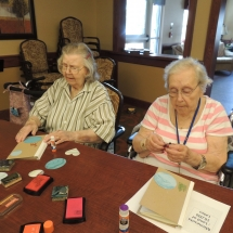 July Silverwood Nature Center Visit-Shoreview Senior Living-women getting crafty