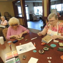 July Silverwood Nature Center Visit-Shoreview Senior Living-teaming up to make journals
