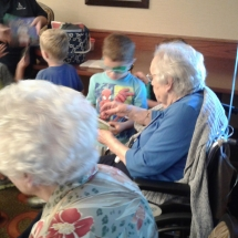 Kinder-care-Shoreview Senior Living-children interaction with the seniors