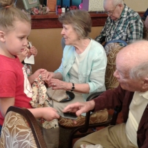 Kinder-care-Shoreview Senior Living-tenants teaching the children