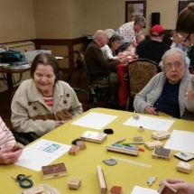 Crafts with Jill-Shoreview Senior Living-Jill helping out tenant with crafts