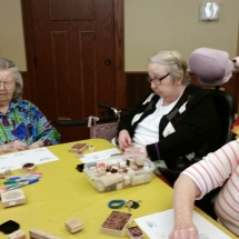 Crafts with Jill-Shoreview Senior Living-hard at work on their crafts