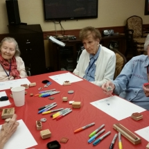 Crafts with Jill-Shoreview Senior Living-chatting while making crafts