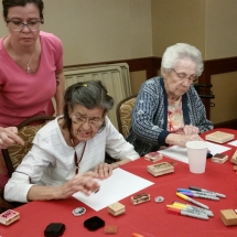 Crafts with Jill-Shoreview Senior Living-Jill supervising crafts