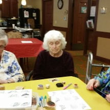 Crafts with Jill-Shoreview Senior Living-contemplating their crafts
