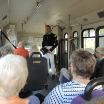 History on the Go at Fort Snelling-Shoreview Senior Living-Tenants enjoying history on the bus