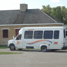 History on the Go at Fort Snelling-Shoreview Senior Living-Bus outside building