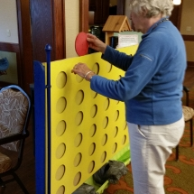 Labor Day Fair Games-Shoreview Senior Living -trying to get four in a row