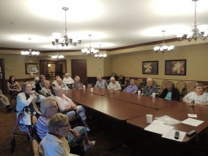 LifeTree Topic-Shoreview Senior Living-seniors discussing around the table