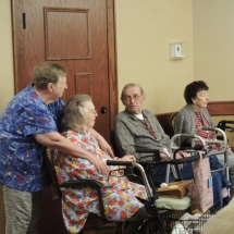 Magical Melodies with Andy-Shoreview Senior Living-Tenants Chatting Away