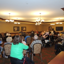 Magical Melodies with Andy-Shoreview Senior Living-Shot of the crowd
