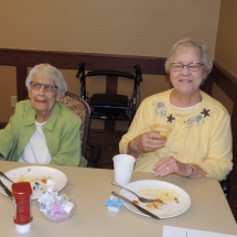 September Made to Order Breakfast-Shoreview Senior Living-Good friends and food