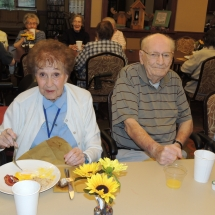 September Made to Order Breakfast-Shoreview Senior Living-Candid photo enjoying eggs