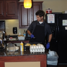 September Made to Order Breakfast-Shoreview Senior Living-Cooking the breakfast