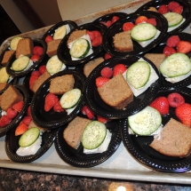 Tea and Trivia with Leo-Shoreview Senior Living-plates set up for lunch