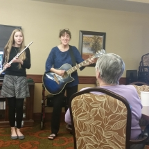 Crime Prevention and Mexico Oraphanage-Shoreview Senior Living-Singing and playing a Spanish song