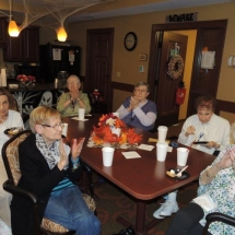 Fall Tea Party-Shoreview Senior Living-Clapping along to the songs