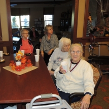 Fall Tea Party-Shoreview Senior Living-Watching the entertainment