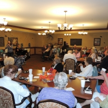 Fall Tea Party-Shoreview Senior Living-Tenants gathered for the music