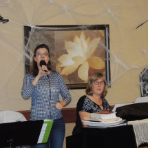 Fall Tea Party-Shoreview Senior Living-Jill and Cathie singing