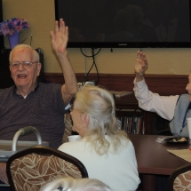 Fall Tea Party-Shoreview Senior Living-Residents getting into the song