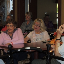 Fall Tea Party-Shoreview Senior Living-Singing along