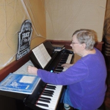 Hymn Singalong-Shoreview Senior Living-Judy playing songs on the piano