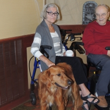 Hymn Singalong-Shoreview Senior Living-Leo getting some lovin'