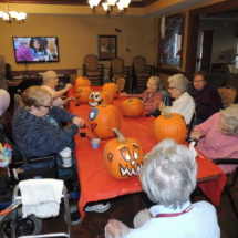 Pumpkin Painting-Shoreview Senior Living-group shot