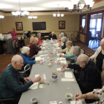 Creating Art with Jill at Shoreview Senior Living