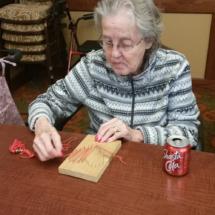 String Art at Shoreview Senior Living