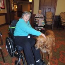 Leo the Dog at Shoreview Senior Living