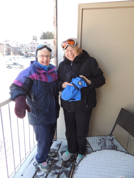 Shoreview Senior Living Residents Jan Bromberg and Erma Comstock Zip-line