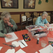 Making Shamrocks at Shoreview Senior Living