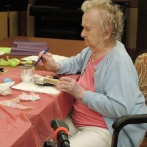Coloring Eggs at Shoreview Senior Living