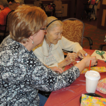 Coloring Eggs at Shoreview Senior Living