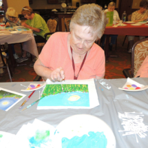 Canvas Painting at Shoreview Senior Living