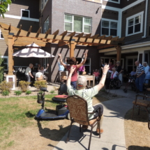 Yoga on the Patio at Shoreview Senior Living