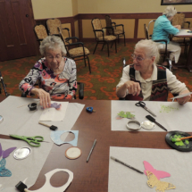 Making Butterflies at Shoreview Senior Living