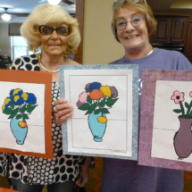 Painting Lesson at Shoreview Senior Living